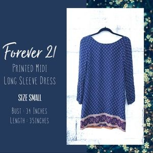 Forever21 Long Sleeve Dress